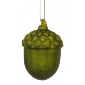 Agern Ø6 cm Glas - Mat grøn