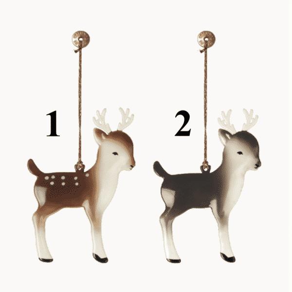 Bambi metal ornament - Maileg - Vælg ml 2 forsk.