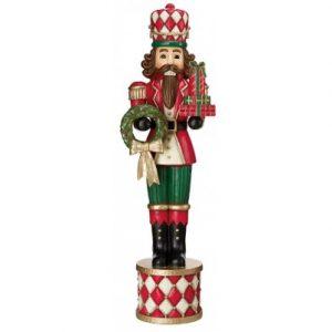 Luksus nøddeknækker soldat H185 cm - Antik rød/Antik grøn