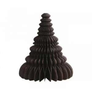 Juletræ i papir - Brun - H 20 cm x Ø 16 cm