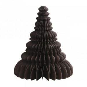 Juletræ i papir - Brun - H 26 cm x Ø 31 cm