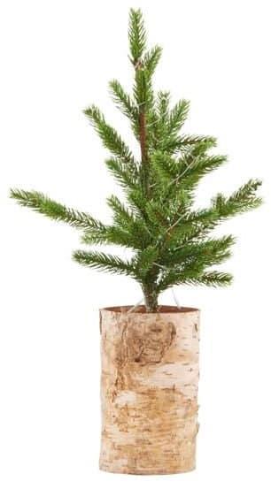 Juletræ med lys træ bund by House Doctor (H: 44 cm., Natur/Grøn)