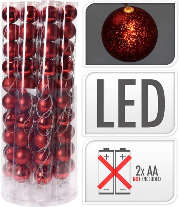 Lyskæde, 16 røde julekugler