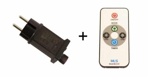 Nordic Winter fjernbetjening & transformer til lysstyring - maks 6W